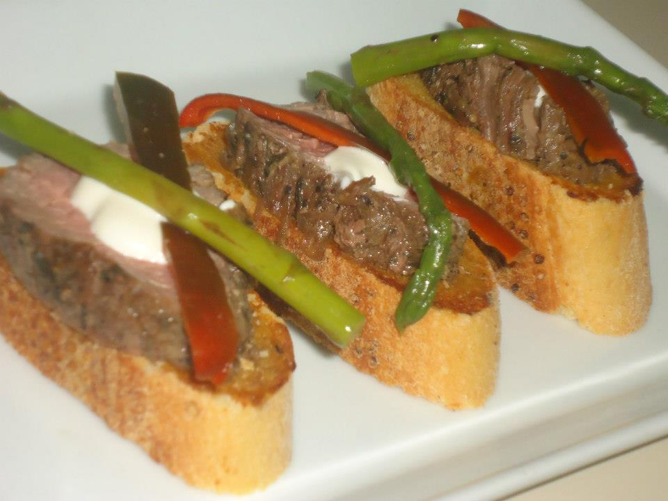 Beef canape recipes for Roast beef canape
